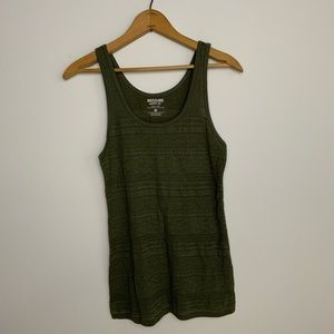 Forest Green Patterned Textured Tank